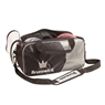 Brunswick Double Tote Bowling Bag- Holds Shoes- Black/Silver