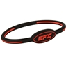 EFX Silicone Oval Wristband- Black/Red