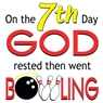 On the 7th Day God Rested Then Went Bowling Towel