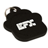 EFX Silicone Pet Tag- Black Paw