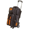 MOTIV Deluxe Triple Roller Bowling Bag- Black/Orange