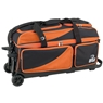 BSI Prestige 3 Ball Roller Bowling Bag- Black/Orange