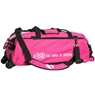 Vise Clear Top 3 Ball Roller Bowling Bag- Pink/Black
