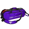 Vise Clear Top 3 Ball Roller Bowling Bag- Purple/Black
