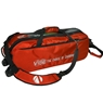 Vise Clear Top 3 Ball Roller Bowling Bag- Red/Black