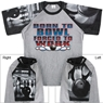 Born to Bowl Forced to Work T-Shirt with Bowling Sleeve Design