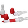 Bowling Pin Pen Expandable- White/Red