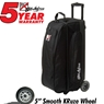 KR Cruiser Smooth Triple Roller Bowling Bag- Black