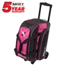 Moxy Double Roller Bowling Bag- Pink/Black