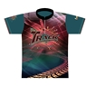 Track Bowling Teal Tracks Dye-Sublimated Jersey