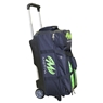 MOTIV Deluxe Triple Roller Bowling Bag- Black/Green