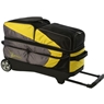 Track Premium 3 Ball Roller Bowling Bag- Yellow/Gray