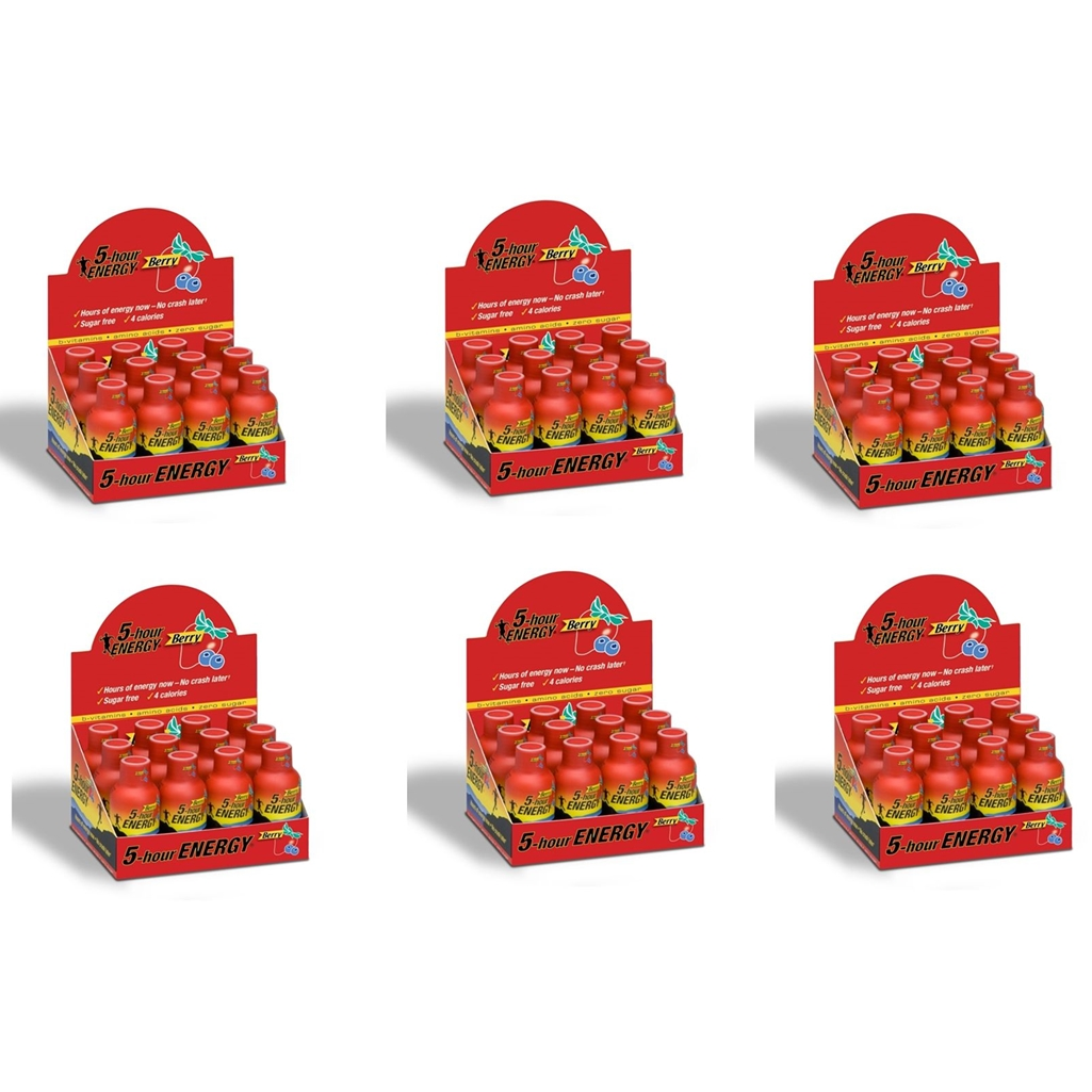 5 Hour Energy Shot Berry- 72 Pack of 2 Ounce Bottles