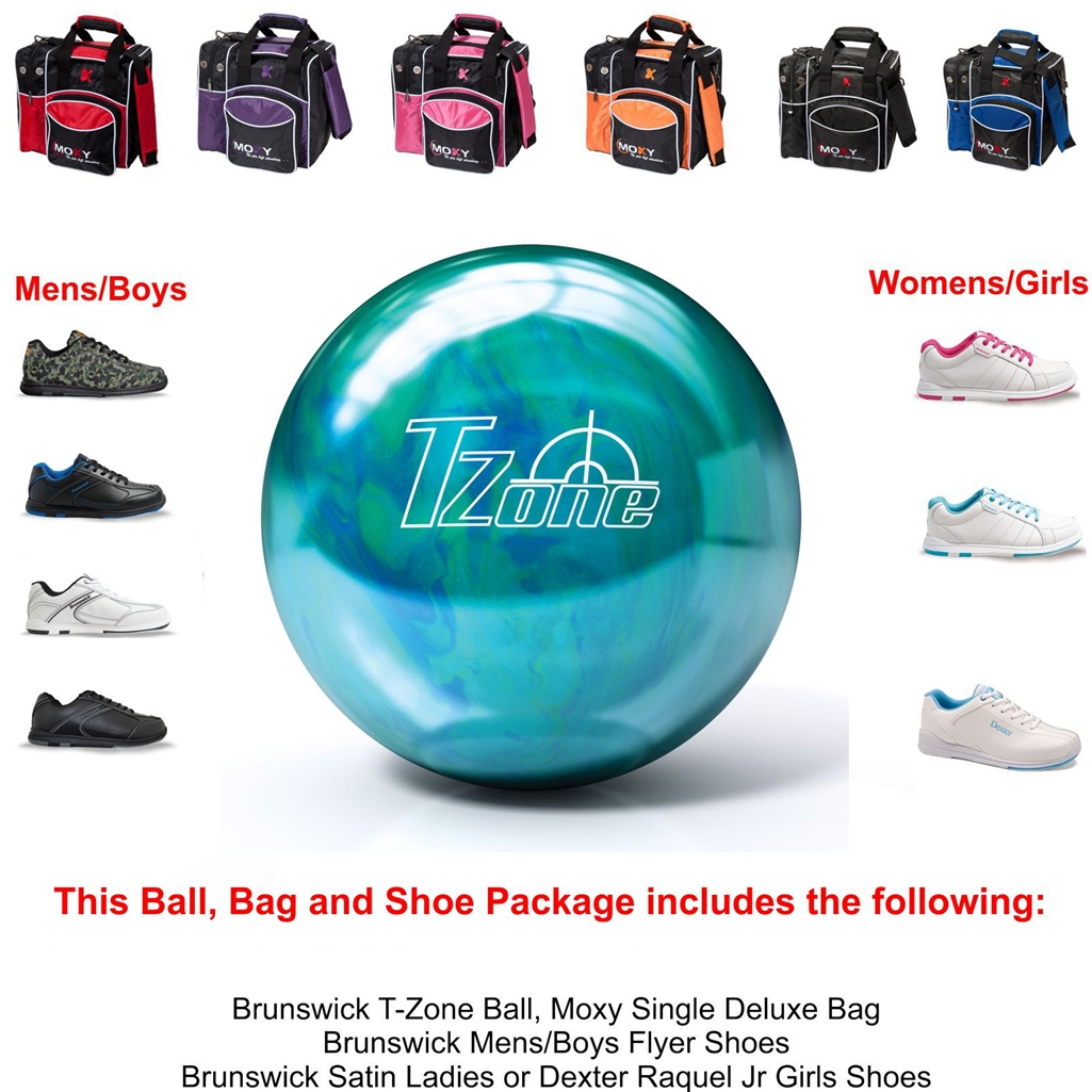 Brunswick T-Zone Caribbean Blue Bowling Ball, KR