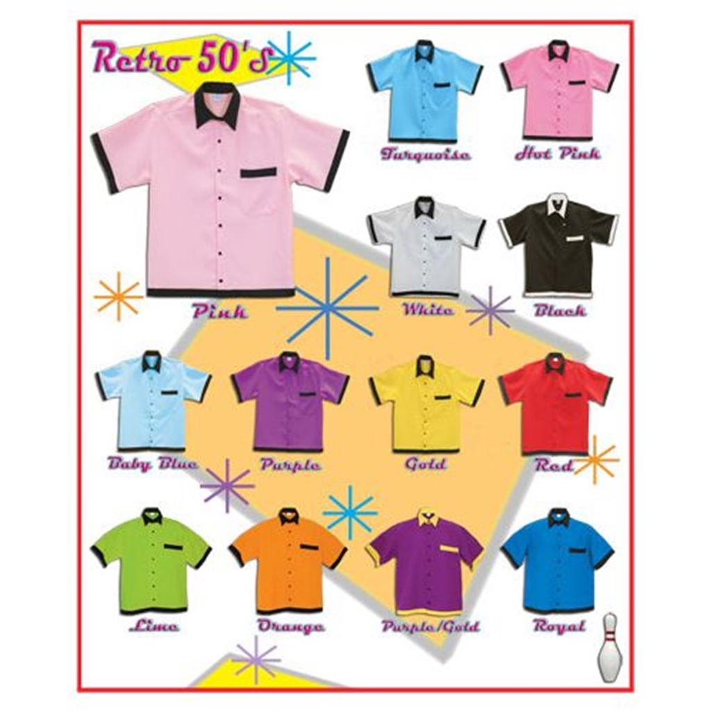 50s Style Retro Bowling Shirt Free Shipping Quantity Discounts