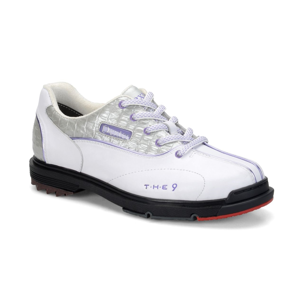 Dexter Womens SST The 9 Bowling Shoes Wide Width- White/Silver ...