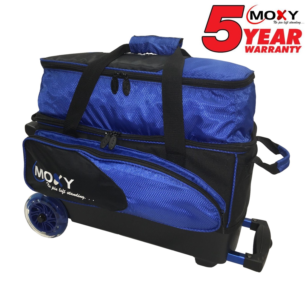 Moxy Blade Premium Double Roller Bowling Bag- Royal/Black