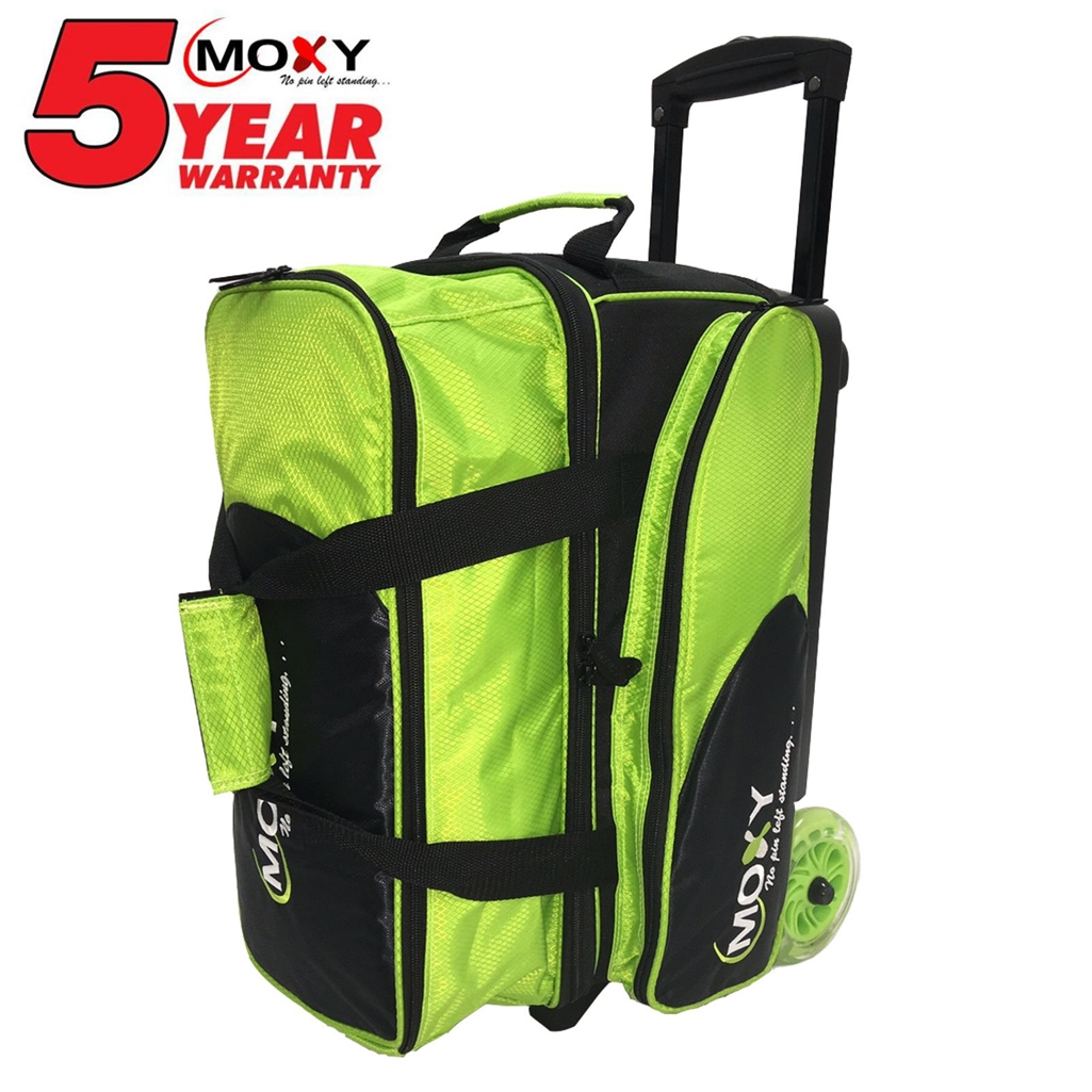 Moxy Blade Premium Double Roller Bowling Bag- Lime/Black