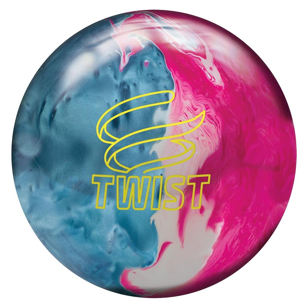 brunswick twist reactive bowling ball sky blue pink snow free