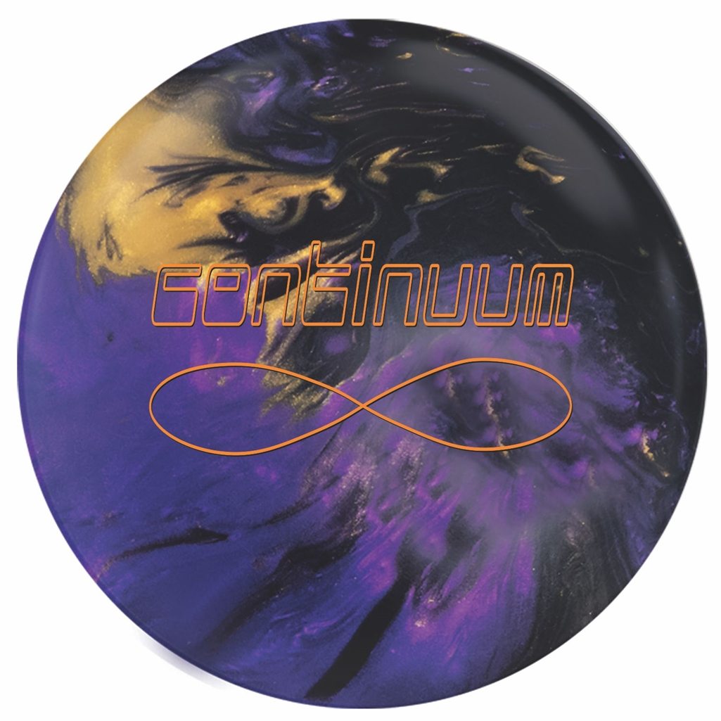 900 Global Continuum Bowling Ball- Purple/Gold/Black