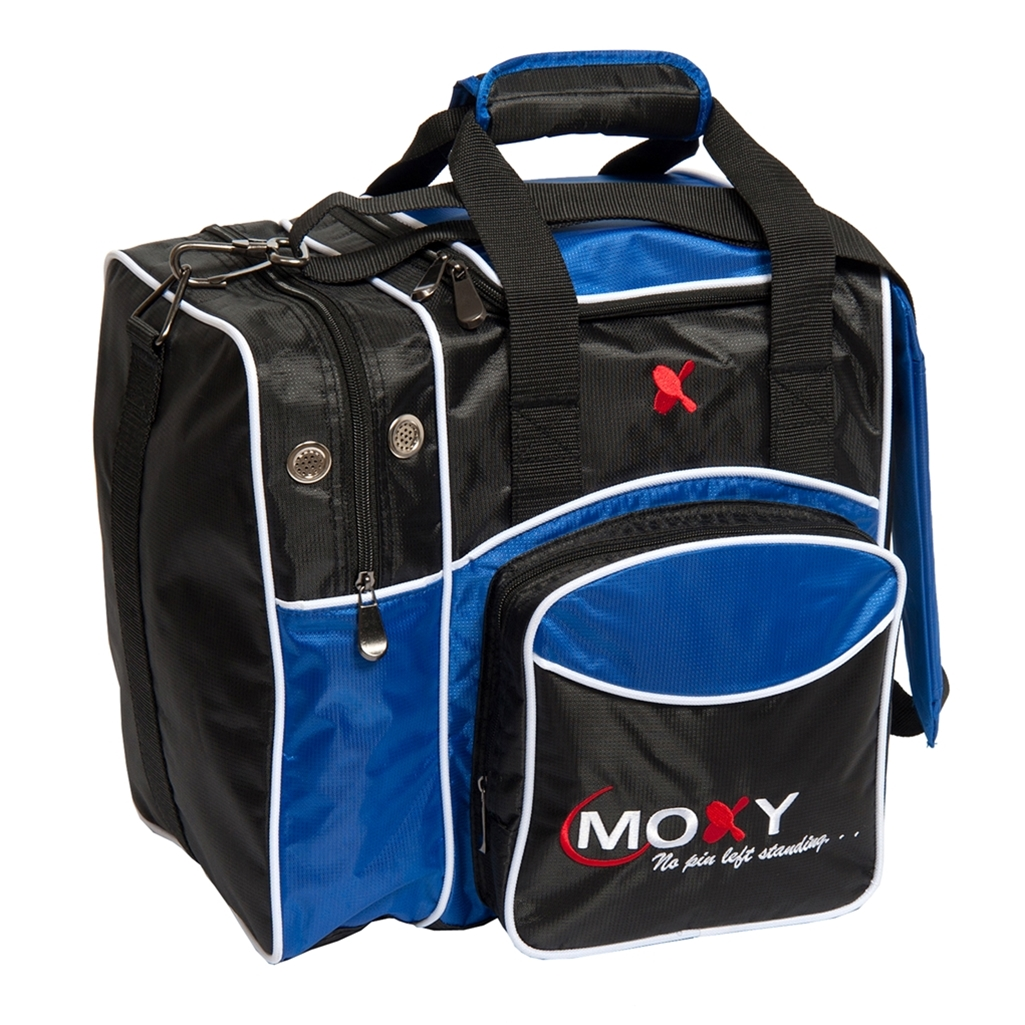 Moxy Candlepin Deluxe Tote Bowling Bag- Royal/Black