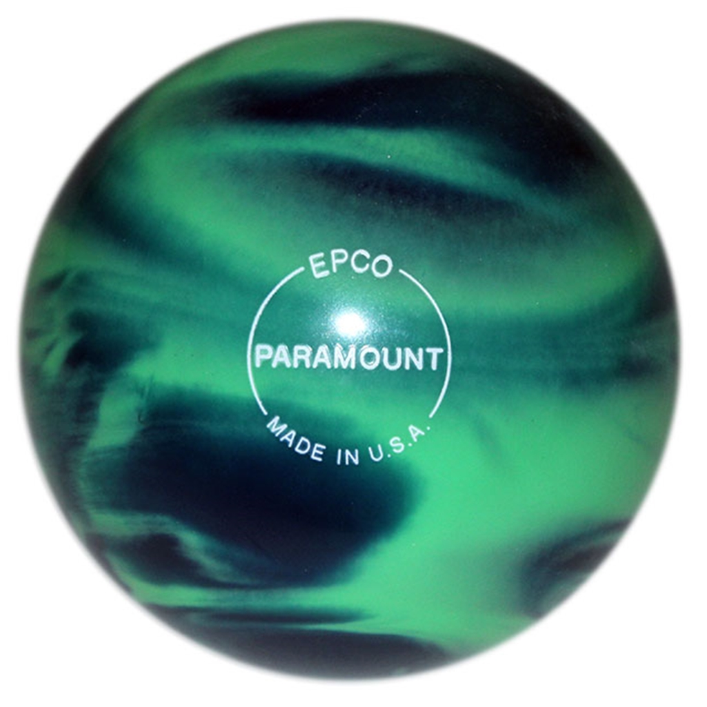 "Candlepin Paramount Marbleized Bowling Ball 4.5""- Sea Green/Blue"