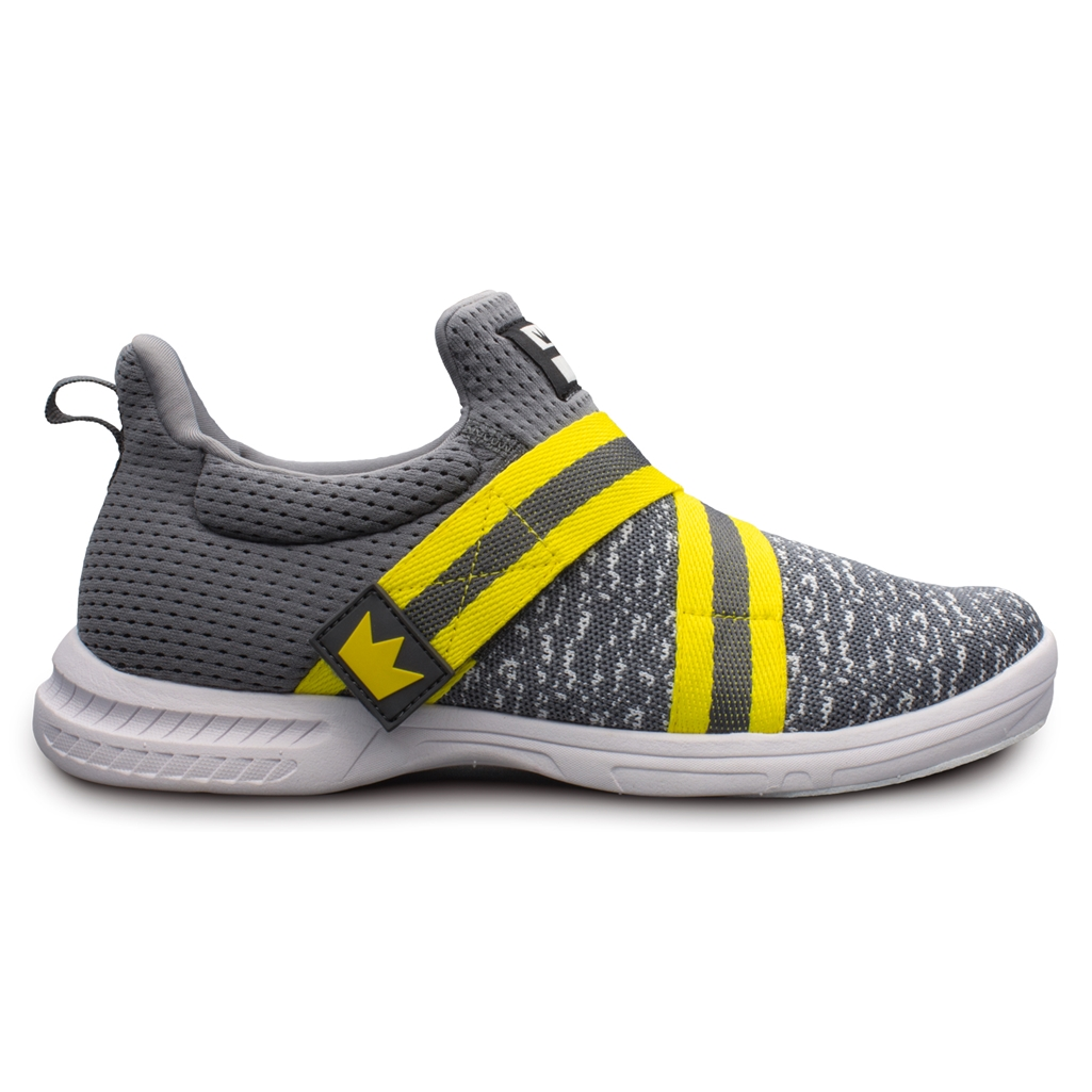 Brunswick Mens Slingshot Bowling Shoes- Grey/Yellow   Free Shipping    Brunswick Authorized Reseller