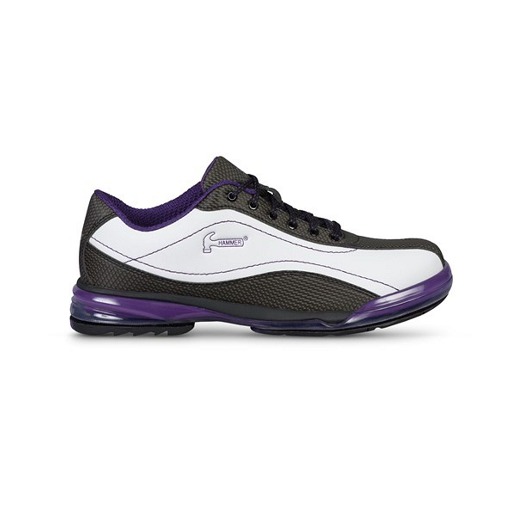 Hammer Lady Force White/Black/Purple Right Hand Bowling Shoes Womens