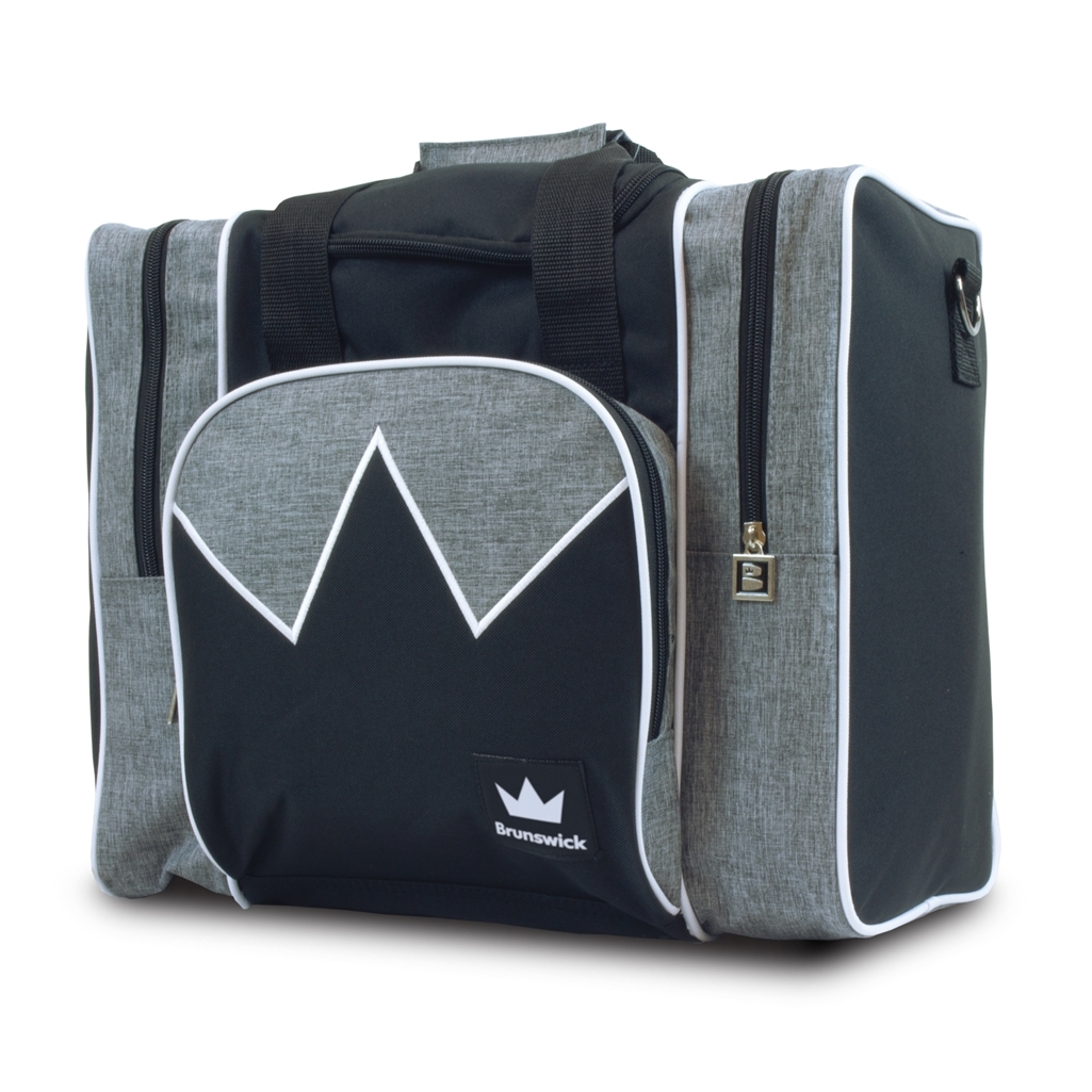 Brunswick Edge Single Tote Bowling Bag- Grey/White