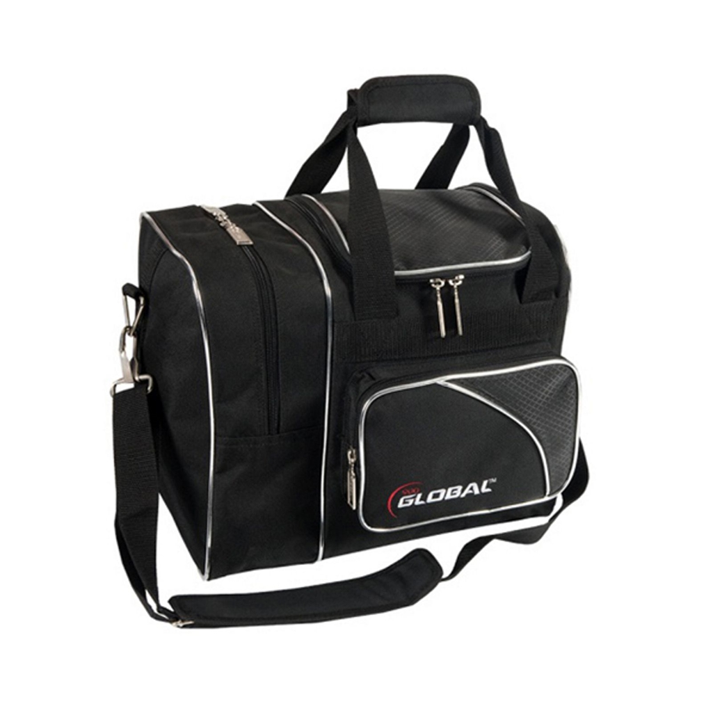 900 Global Deluxe Single Bowling Bag- Black/Black