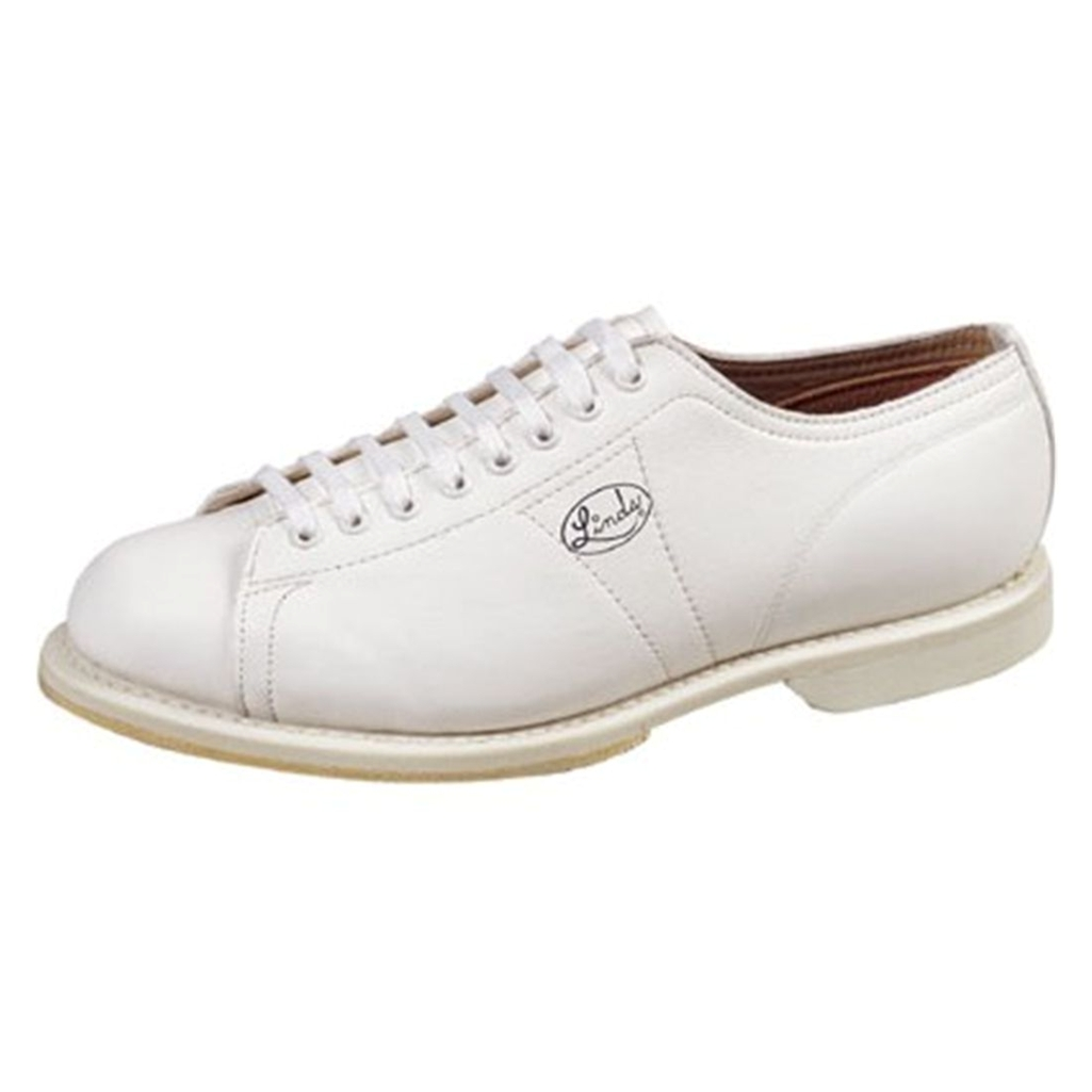 Linds Mens Classic White Bowling Shoes- Right Hand