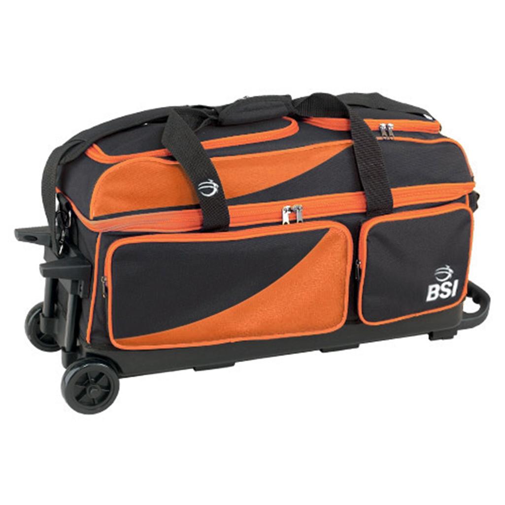 Bsi Prestige 3 Ball Roller Bowling Bag Black Orange