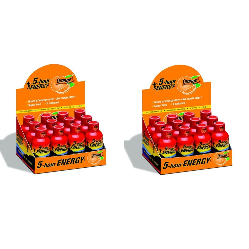 5 Hour Energy Shot Orange- 24 Pack of 2 Ounce Bottles
