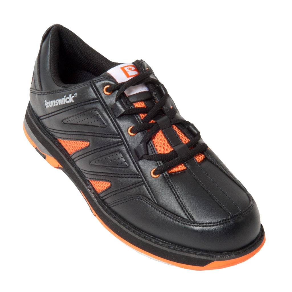 Brunswick Mens Warrior Bowling Shoes- Black/Orange | Free Shipping ...