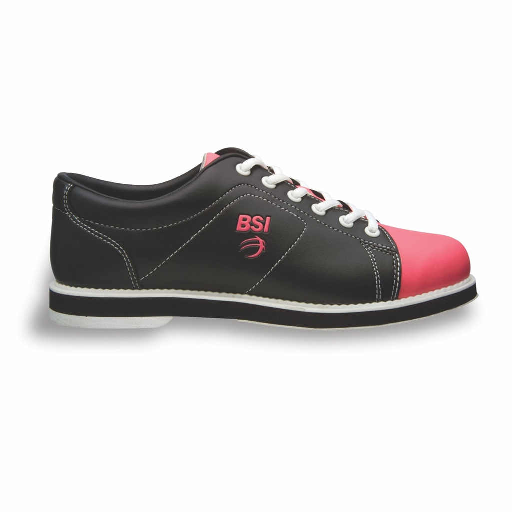 BSI Womens Classic Bowling Shoes- Black/Pink
