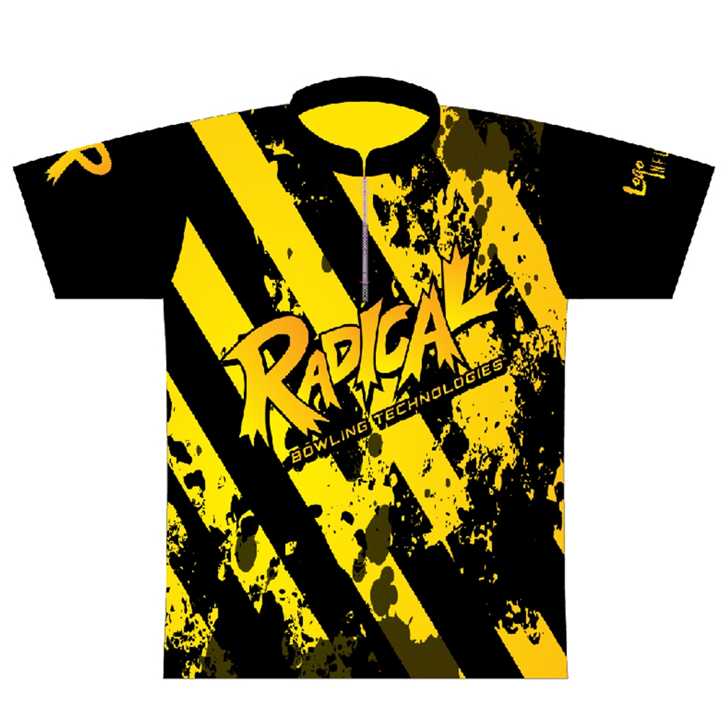 Radical Bowling Caution Tape Dye-Sublimated Jersey | Free